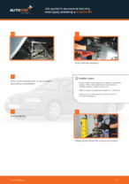Jak wymienić mocowanie kolumny resorującej przedniej w AUDI A4 В5