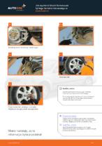 Jak wymienić klocki hamulcowe tylnego hamulca tarczowego w Opel Astra G