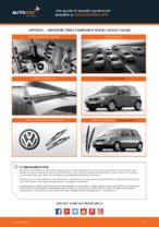 Wymiana Pióro wycieraczki VW LUPO: instrukcja napraw