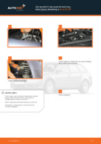 Jak wymienić mocowanie kolumny resorującej przedniej w Audi A4 В7
