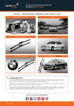 Jak wymienić szczotki wycieraczki przednie w BMW 3 E36
