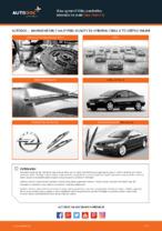 Ako vymeniť lištu predného stierača na aute Opel Astra G