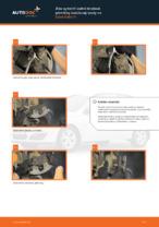 Ako vymeniť zadné brzdové platničky kotúčovej brzdy na Opel Astra H