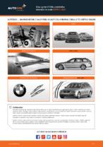 Ako vymeniť lištu predného stierača na aute BMW 5 E60