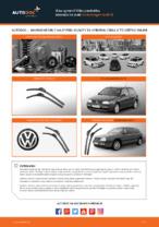 Ako vymeniť lištu predného stierača na aute Volkswagen Golf III