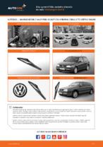 Ako vymeniť lištu zadného stierača na aute Volkswagen Golf III