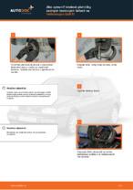 Ako vymeniť brzdové platničky zadných brzdových čeľustí na Volkswagen Golf III