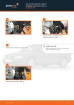 Jak vyměnit přední brzdové destičky kotoučové brzdy na AUDI A4 В5