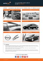 Jak vyměnit lištu předního stěrače na autě Opel Astra G