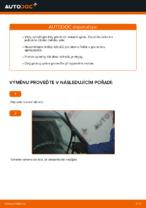 Jak vyměnit lištu předního stěrače na autě FIAT PUNTO 188