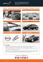 Πώς αντικαθιστούμε μπροστινά μάκτρα υαλοκαθαριστήρων σε Opel Astra G