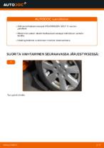 VW GOLF V (1K1) Tanko kallistuksenvaimennin asennus - vaihe vaiheelta korjausohjeet