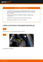 Hvordan bremseskiverne foran på VOLKSWAGEN GOLF IV udskiftes