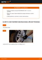 VW GOLF Koiranluu vaihto: ohjekirja