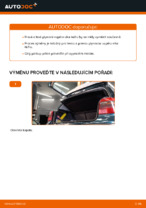 Jak vyměnit plynové vzpěry víka kufru na VOLKSWAGEN GOLF IV