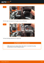 DIY VW change Wiper blades front and rear - online manual pdf
