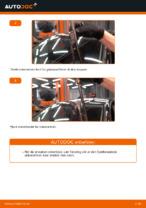 Skifte Viskerblader: pdf instruksjoner for VW GOLF