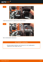 Skifte Vindusviskere VW GOLF: verkstedhåndbok