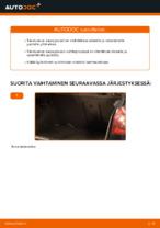 Kuinka vaihdat takaluukun kaasujouset VOLKSWAGEN GOLF V -autoon