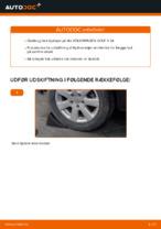 Hvordan man udskifter hjulleje i bag på VOLKSWAGEN GOLF V