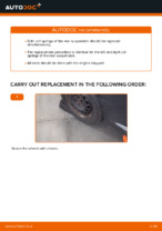 How to replace rear suspension springs on TOYOTA AYGO AB10