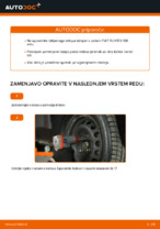 Menjava zadaj levi desni Kolesni lezaj FIAT PUNTO: spletni vodič