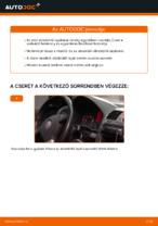 Ablaktörlő cseréje: pdf útmutatók VW GOLF