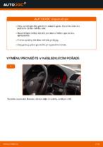 Jak vyměnit lištu předního stěrače na autě VOLKSWAGEN GOLF V
