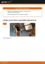 Hvordan man udskifter brændstoffilter på VOLKSWAGEN GOLF IV