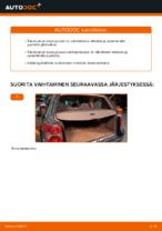 Kuinka vaihdat takaluukun kaasujouset VOLKSWAGEN PASSAT B5 (3BG, 3B6) -autoon