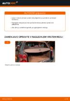 Kako zamenjati plinske vzmeti vrat prtljažnika na VOLKSWAGEN PASSAT B5 (3BG, 3B6)