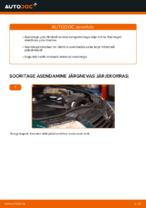 Piduriklotsid vahetus: pdf juhend VW PASSAT