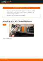 Gratis instruktioner online hur installerar man Gasfjäder bagageutrymme VW POLO (9N_)