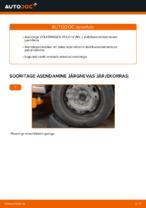 Kuidas vahetada ja reguleerida Stabilisaatori otsavarras VW POLO: pdf juhend