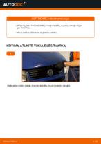 Automechanikų rekomendacijos VW VW TRANSPORTER IV Bus (70XB, 70XC, 7DB, 7DW) 2.4 D Stabilizatoriaus įvorė keitimui
