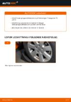 Hvordan installeres den foreste krængningsstabilisator på Volkswagen Transporter T4
