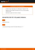 PDF Manual för reparation av reservdelar bil: Transporter IV Minibuss (70B, 70C, 7DB, 7DK, 70J, 70K, 7DC, 7DJ)