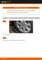 Automekaanikon suositukset VW VW TRANSPORTER IV Bus (70XB, 70XC, 7DB, 7DW) 2.4 D -auton Kumityyny-osien vaihdosta