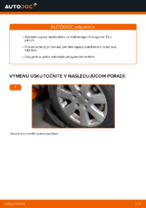 Ako vymeniť a regulovať Vzpera stabilizátora VW TRANSPORTER: sprievodca pdf