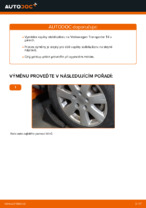 Jak vyměnit přední vzpěru stabilizátoru na Volkswagen Transporter T4