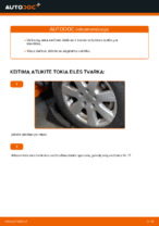PDF keitimo instrukcija: Vairo trauklės (valdymo svirtis, išilginis balansyras, diago VW Transporter IV Bus (70B, 70C, 7DB, 7DK, 70J, 70K, 7DC, 7DJ) gale ir priekyje