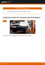 Kako zamenjati zadnje vležajenje motorja na VOLKSWAGEN TRANSPORTER T4 (70XB, 70XC, 7DB, 7DW)