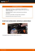 PDF asendamise juhend: Piduriketas VW Transporter IV Buss (70B, 70C, 7DB, 7DK, 70J, 70K, 7DC, 7DJ) tagumine ja eesmine