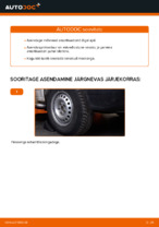 Asendamine Amort VW TRANSPORTER: käsiraamatute