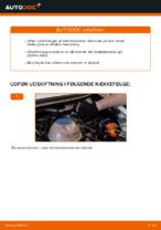 Hvordan man udskifter bremseklodser til skivebremer i bag på VOLKSWAGEN TRANSPORTER T4 (70XB, 70XC, 7DB, 7DW)