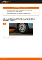 Cómo cambiar la palanca inferior de la independiente suspensión delantera en FIAT PUNTO II (188)
