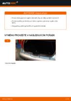 Jak vyměnit plynové vzpěry víka kufru na FIAT PUNTO II (188)