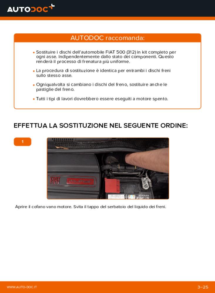 Come effettuare una sostituzione di Dischi Freno su 1.2 Fiat 500 312