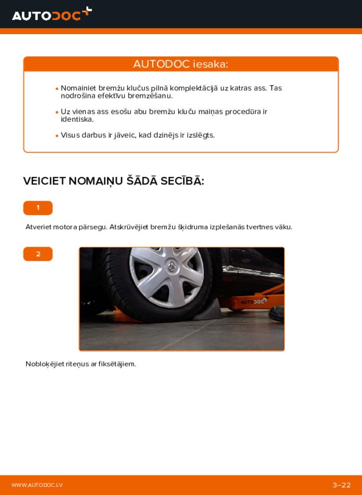 Kā veikt nomaiņu: 1 Toyota Aygo ab1 Bremžu loku komplekts
