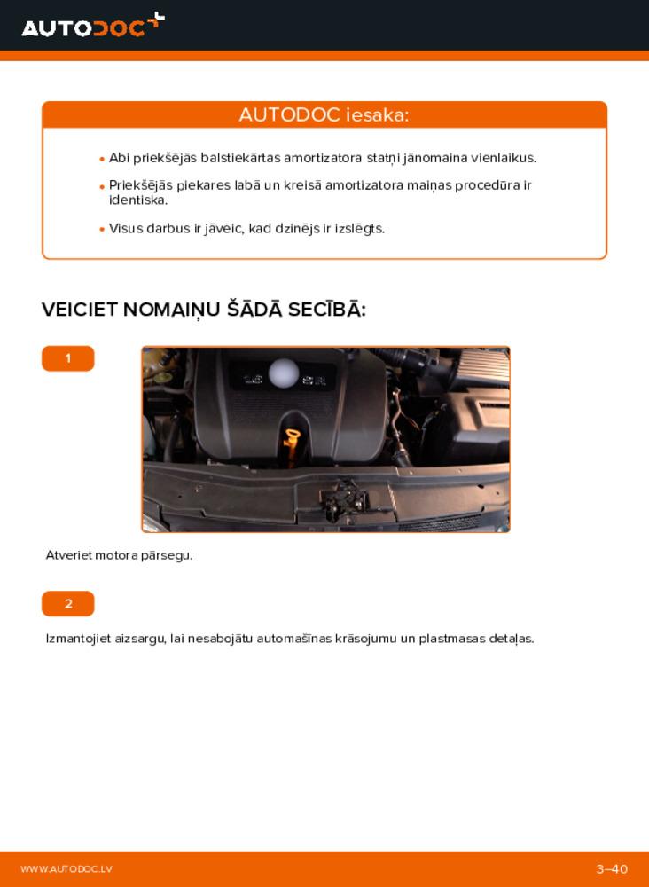 Kā veikt nomaiņu: 1.4 16V Golf 4 Amortizators